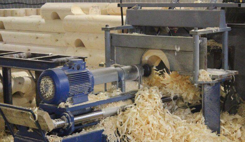 Завершающий этап в обработки бревна