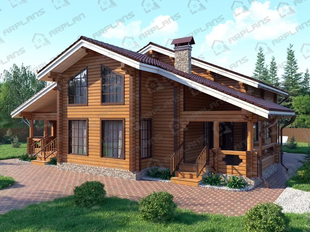 Проект дома из бруса