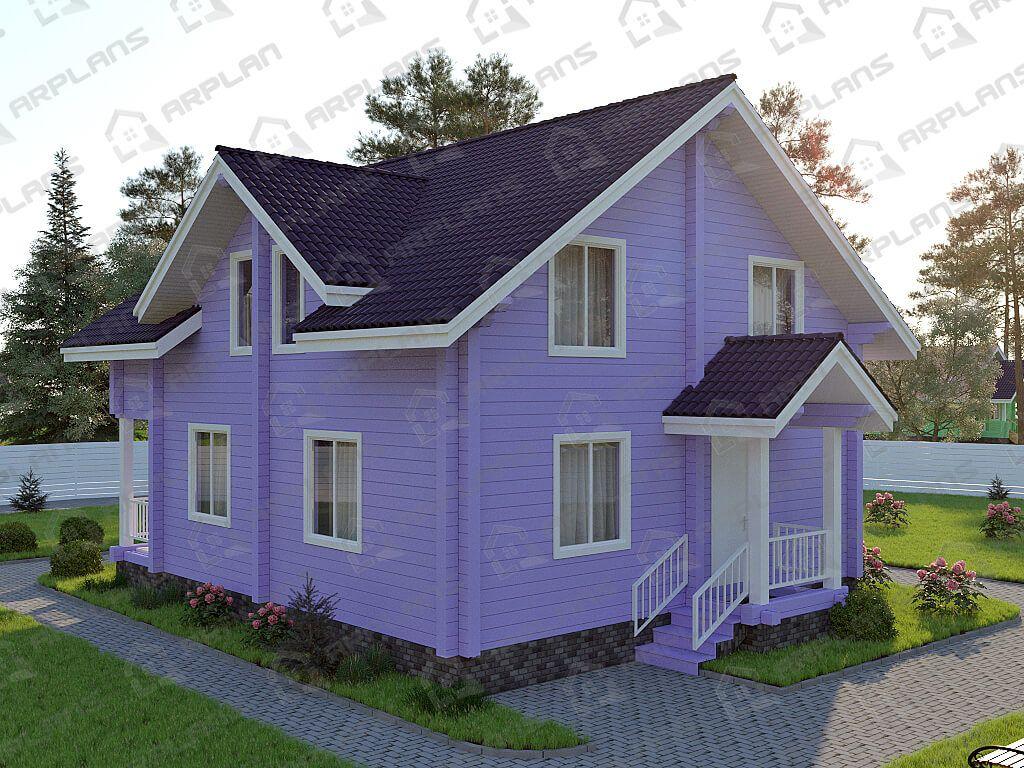 Дом из бруса 9х11 «ДОБ-035»
