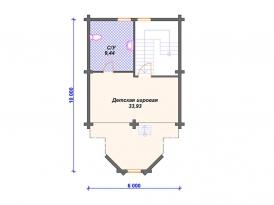 План третьего этажа проекта дома из клееного бруса под строительство в Москве и Ярославле