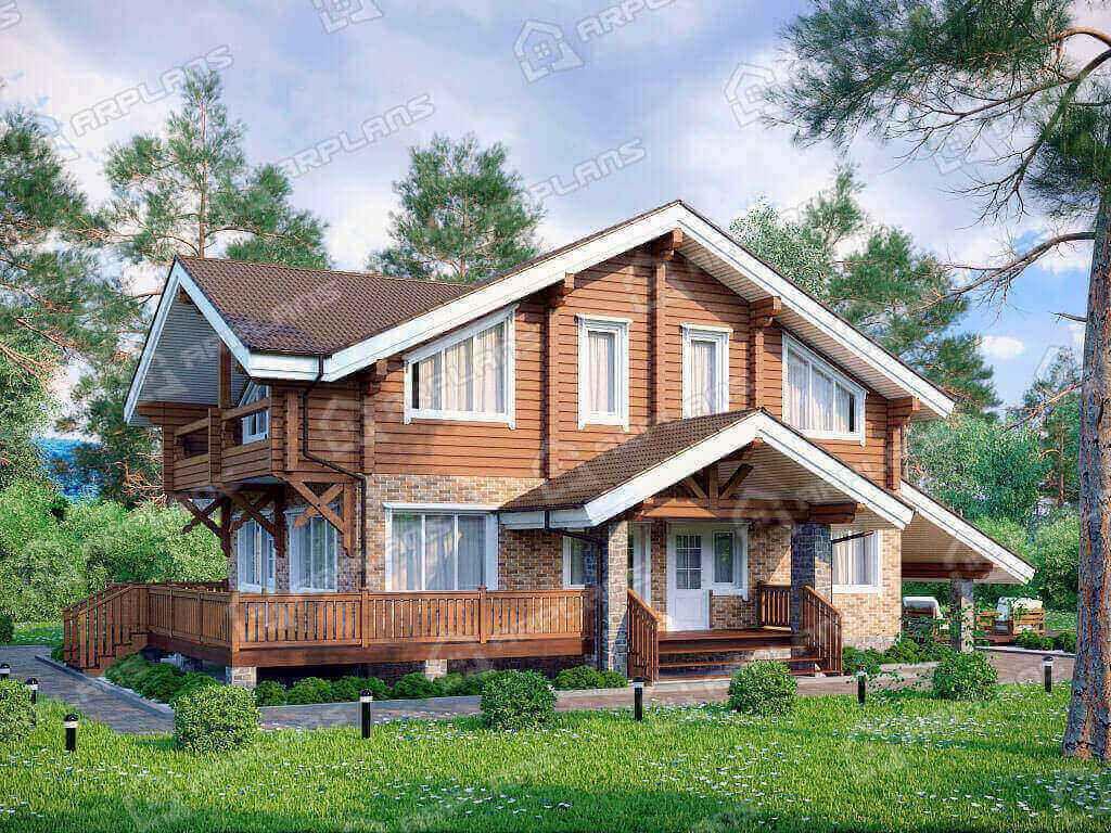 Проект дома из бруса и блоков