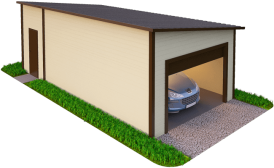 Утепленный гараж из сэндвич панелей на одну машину