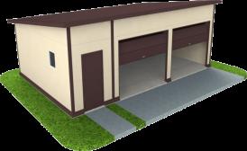 Утепленный гараж из сэндвич панелей на две машины
