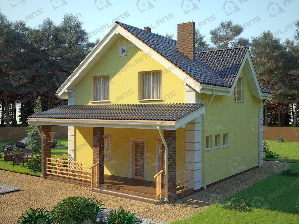 Проект дома из пеноблоков