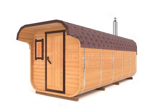 Квадратная баня-бочка 6 метров