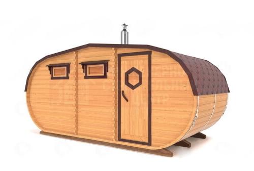 Овальная баня 5х2,35 метра