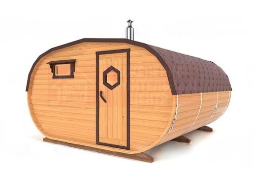 Овальная баня 4х4 метра