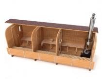 Квадратная баня-бочка 6 метров - схема