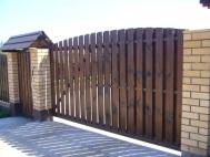 Откатные ворота из штакетника 2