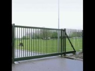 Откатные ворота из решетки 1