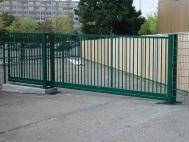 Откатные ворота из решетки