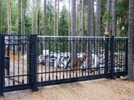 Откатные ворота из решетки 3