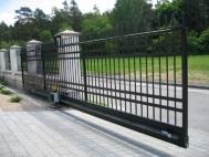 Откатные ворота из решетки 2