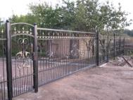 Откатные ворота с ковкой 3