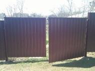 Распашные ворота из профнастила 3