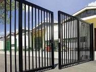 Распашные ворота из решетки 2